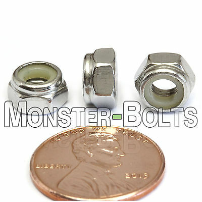 M5-0.8 / 5mm - Qty 10 - Nylon Insert Hex Lock Nut DIN 985 - A2 Stainless Steel