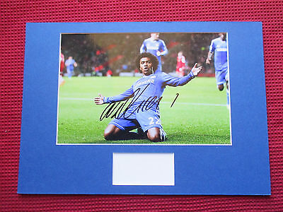 Chelsea - Brazil Willian Personally Hand Signed A3 Mounted Photo Display - Coa
