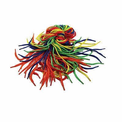 Play & Discover 3 mm x 75 cm New Threading Laces, Pack of 40, 4 Colours CX7592
