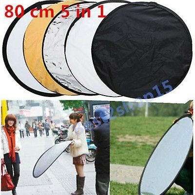 "80cm 32"" 5 in 1 Photography Studio Multi Photo Disc Collapsible Light Reflector"