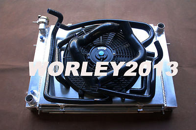 Aluminum Radiator + Shroud + Fan + Black hose for HOLDEN  VN VP VR VS V8 5.0
