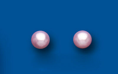 Sterling Silver 5mm Pink Freshwater Cultured Pearl Stud Earrings
