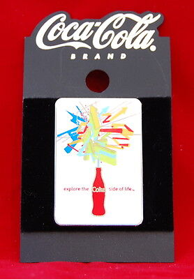 Vintage Coca-Cola Brand Explore The Coke Side Of Life Trading Pin Collectible