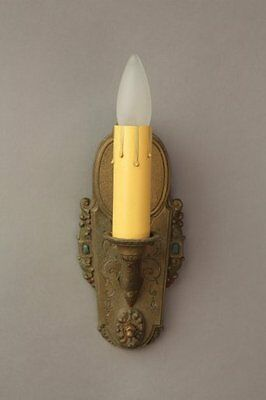 1 of 6 1920s Sconce Light Fits Tudor Spanish Revival Classic Decor French (8209)