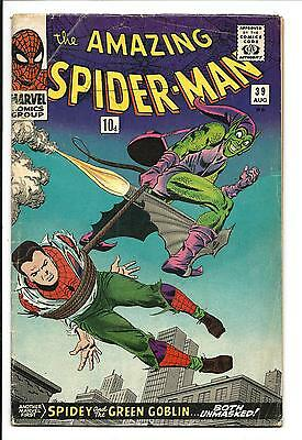 Amazing Spider-Man # 39 (Green Goblin & Spidey Unmasked, Aug 1966), Vg