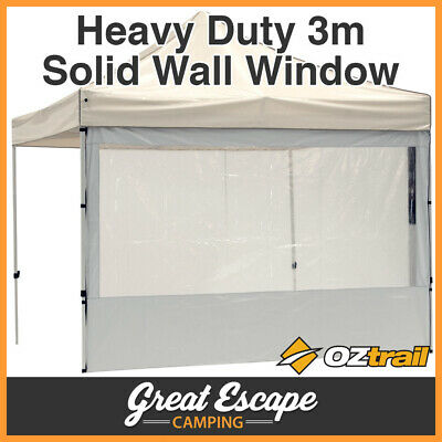 1 x OZtrail Gazebo Heavy Duty 3m White Solid Wall PVC Window