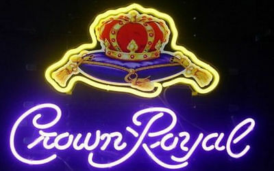 """New Crown Royal Light Neon Sign Store Display Beer Bar Sign Real Neon 17""""x14"""""""