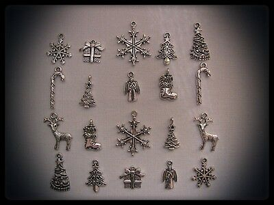 20~ MIXED CHRISTMAS CHARMS(((BUY 2 PACKS GET THE THIRD FREE)))  Plus FREE Gift.