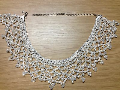 Faux Peter Pan Pearl Lace Collar for Women Detachable Necklace Choker - Style 4