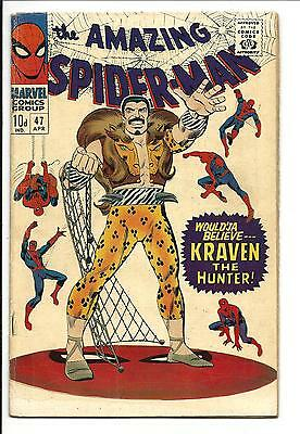 Amazing Spider-Man # 47 (Kraven The Hunter, Apr 1967), Fn