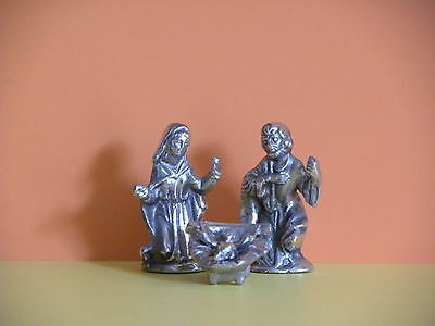 "Pewter, Nativity set 3 1/4"" tall"