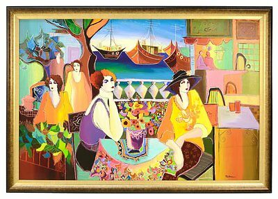 "Patricia Govezensky /""Noa Models Talking/"" Set of two Serigraphs Figurative Art"
