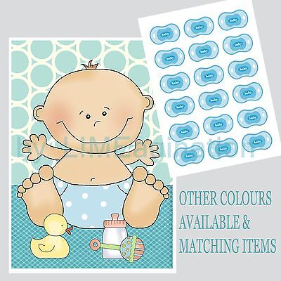 Pin the DUMMY on the BABY, BABY SHOWER GAME