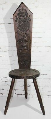 Arts and Crafts Reproduction Carved Oak Spinning Chair- FREE Delivery [PL1458]