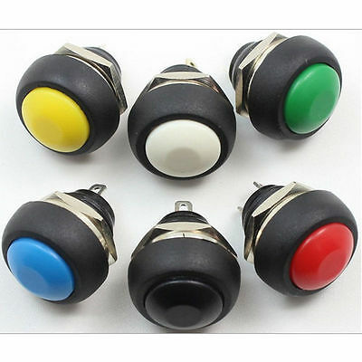 Hot Sales 12V Momentary Push Button Horn Switch OFF (ON) Car Dashboard Boat SPST
