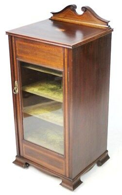 Antique Edwardian Inlaid Mahogany Display Cabinet - FREE DELIVERY [PL1460]