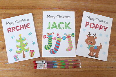 Personalised A6 Christmas Activity Pack Stocking Filler Pack  Xmas Eve Gift Box