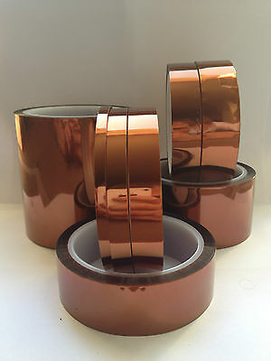 5/10/15/20/25/30/50/100/160mm x 33m High Temperature Kapton Polyimide Tape BGA