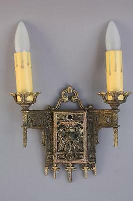1 of 4 1920's Sconce Lights Tudor Spanish Revival French Colonial Cottage (6867)