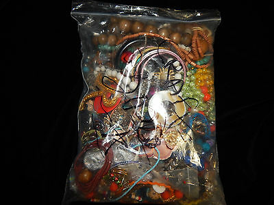 ODDS N ENDS  5 Lb Grab Bag JEWELRY FOR CRAFTS Chains, Pendants, Beads!