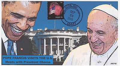 Jvc Cachets-2015 Pope Francis Visits U.s. - Visits White House Event Cover Fdc