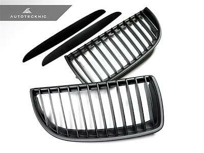 New Matte Black Replacement Front Grille For 06-08 Bmw 3-Series Sedan E90 E91