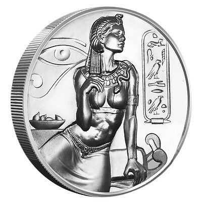 Egyptian Gods Series Cleopatra Ultra High Relief 2 oz .999 Silver BU Round Coin