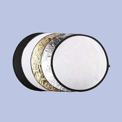 """Top 5 in 1 Collapsible 60cm 23"""" Lighting Diffuser Round Reflector Disc + Bag"""