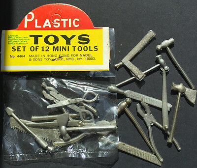 VINTAGE NADEL & SONS TOY CORP NYC  Set of 12 MINI TOOLS