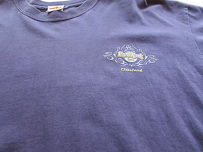 1990's Hard Rock Cafe Cleveland T Shirt Xxl Front And Back Print