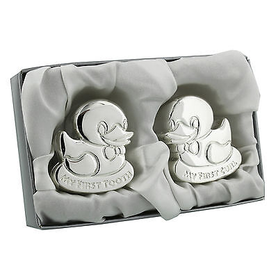 Tooth & Curl Boxes Ducks Silver Plated Engravable Free of Charge CG1102