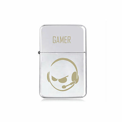 *STAR* RETRO GAMER engraved LIGHTER silver black pink gold PSP XBOX Console gift