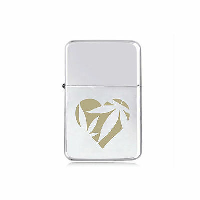 *STAR* HEART WEED engraved LIGHTER silver pink gold CANNABIS MARIJUANA girl logo