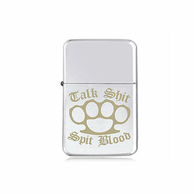 *STAR* KNUCKLE DUSTERS engraved LIGHTER silver pink gold black FIGHT CLUB BOXER