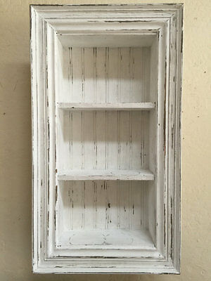 French Country Shadow Box, Chalk Paint Shadow Box, Primitive Wall shelf, Shabby