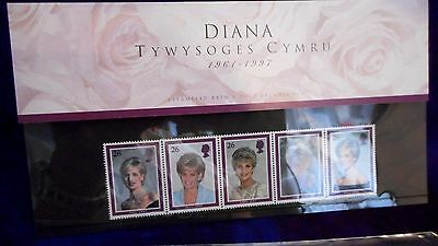 1998 Great Britain  Princess Diana Welsh Presentation Pack Stamps Value L150