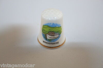 "Thimble D.M. Gould Fine Bone China made in England ""Windermere"""