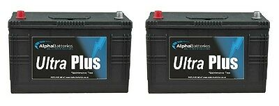 Pair Of 12V 644 Heavy Duty Commercial Batteries Tractor, Lorry, Wagon