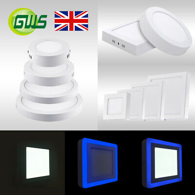 LED Surface Mounted Ceiling Slim Panel DownLight Round Square Top Quality