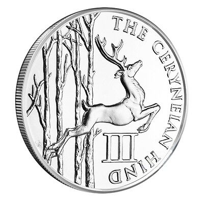 The 12 Labors Of Hercules Ceryneian Hind 1 oz .999 Silver BU Round USA Made Coin