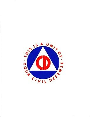 2 REPRODUCTION CIVIL DEFENSE VEHICLE  4 Inch AUTOMOBILE STICKER DECAL COLD WAR