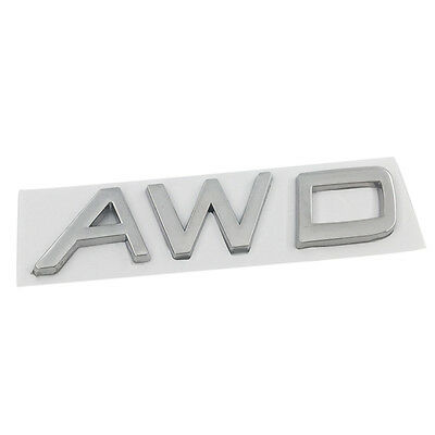 AWD Metal Rear Trunk Emblem Badge Decal Sticker For VOLVO V40 V60 S60 XC60 XC70
