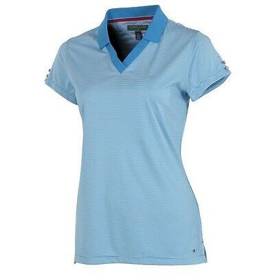 Genuine Tommy Hilfiger Womens Christina Golf Polo Swedish Blue Medium 12-14