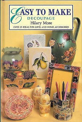 Easy to make decoupage craft book 25 ideas gifts home accessories ornaments VGUC