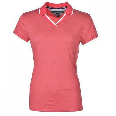 Genuine Tommy Hilfiger Womens Christina Golf Polo Semi Fitted Barberry Medium