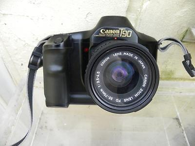 CANON T90 35MM SLR CAMERA with CANON FD 1:3.5-4.5 F=35-70mm ZOOM LENS