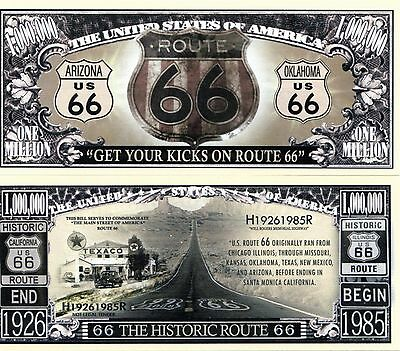 Get your Kicks on Route 66 TV Series Million Dollar Novelty Money