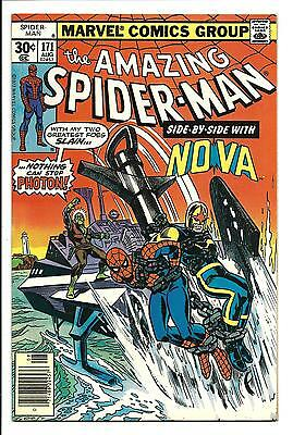 AMAZING SPIDER-MAN # 171 (NOVA & PHOTON apps. AUG 1977), VF+