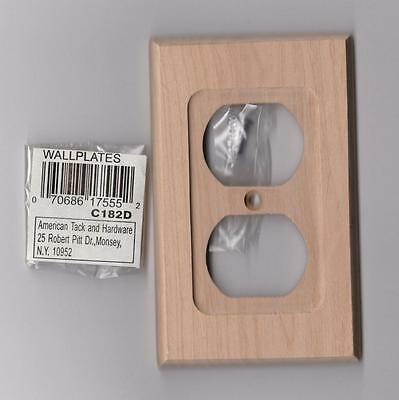 American Tack & Hardware Single Duplex Wallplate Natural Unfinished (C182D)*