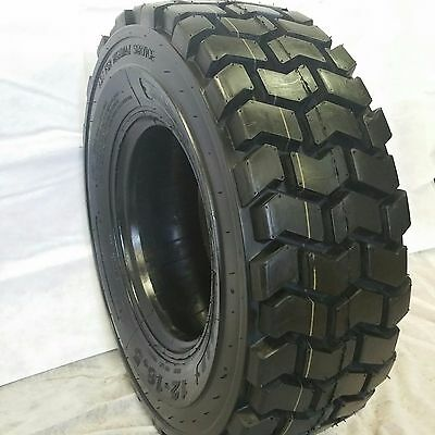(4-TIRES) 10-16.5 12 Ply ,10x16.5, ROAD WARRIOR Non-Dir (4 SKID STEER TIRES)